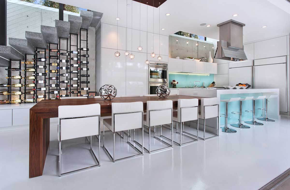 Kitchen Wine Wall | Costa Mesa, Ca | Designer: Ultra Mod Home Concepts