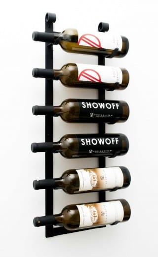 Le Rustique Vintage Metal Wall Mounted Wine Rack