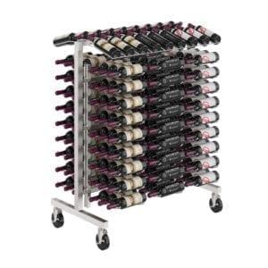 Island Display Rack | Modern retail floor wine rack