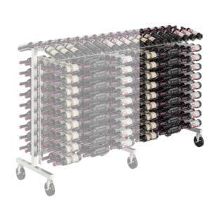 Island Display Rack Freestanding Retail Metal Wine Rack