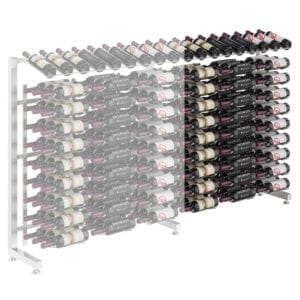 Island Display Rack Freestanding Retail Metal Wine Rack