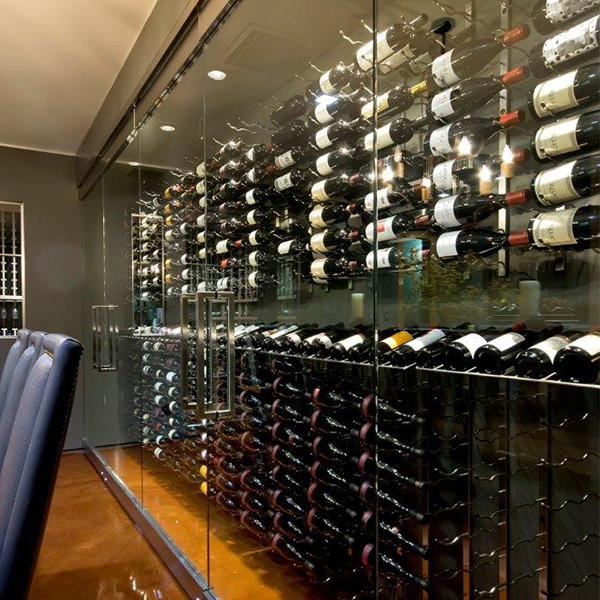 Presentation Row Metal Wine Rack 3 To 9 Bottles