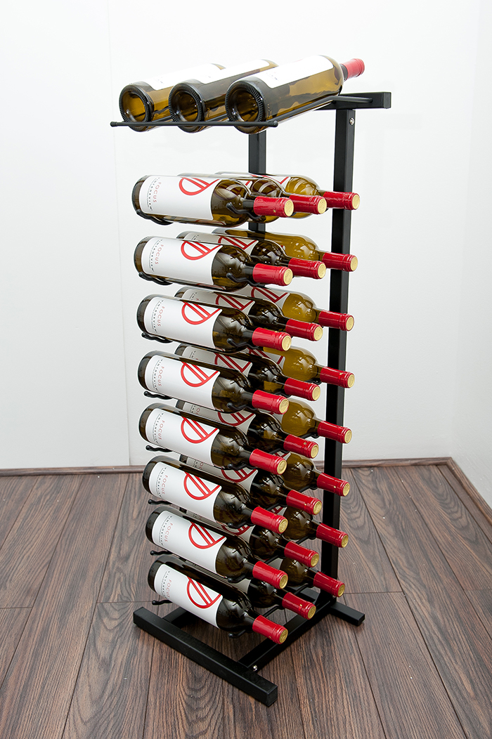 Point Of Purchase Display Rack 27 Bottle Vintageview