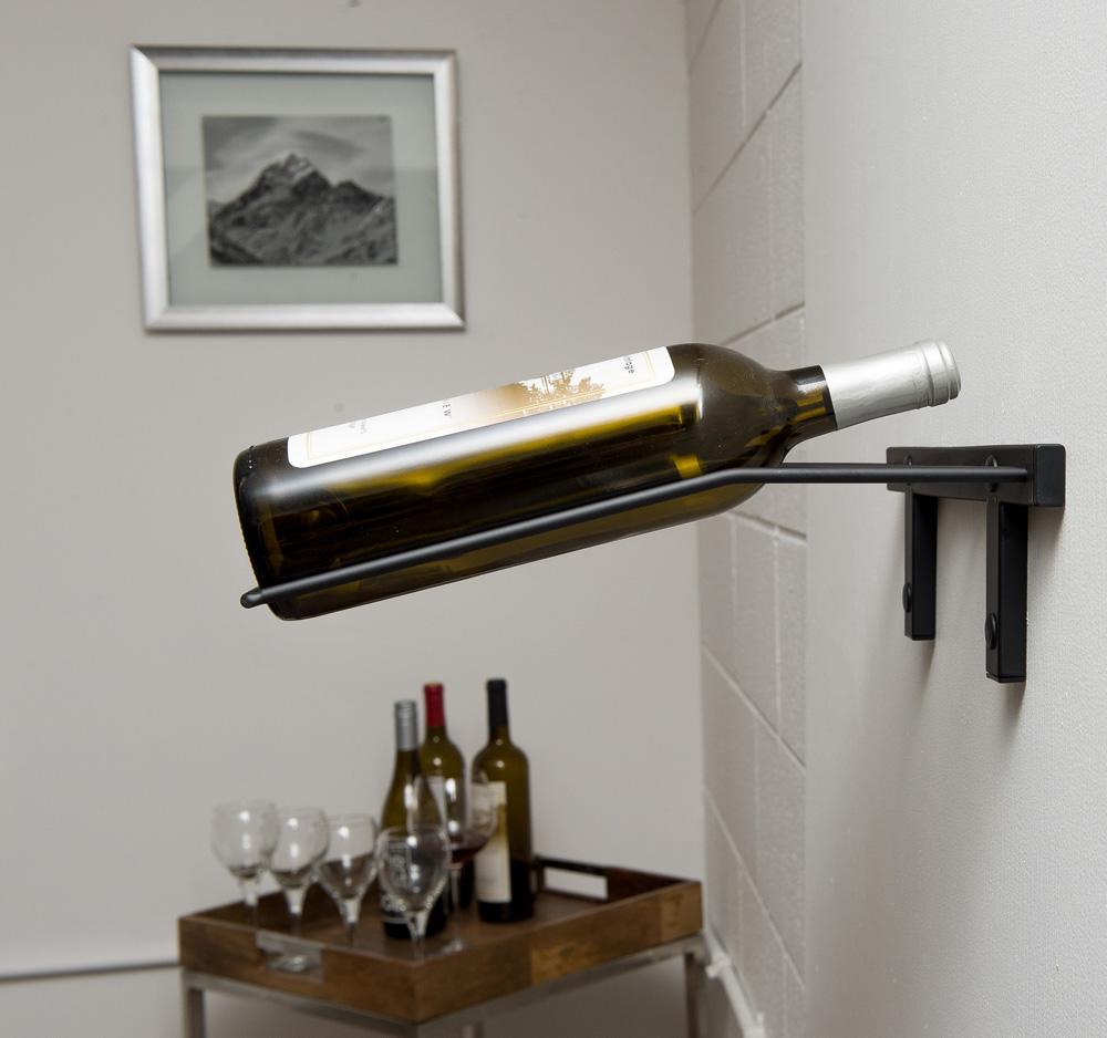 Metal Wall Wine Rack presentation row metal wine rack (3 to 9 bottles) - vintageview