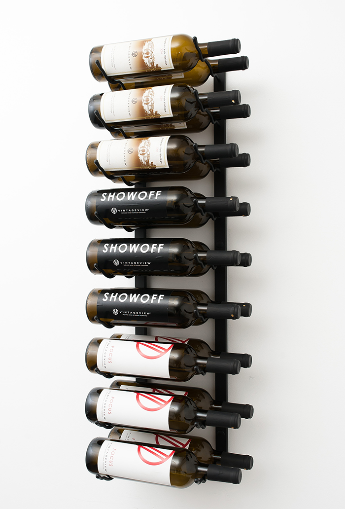 3 ft wall series metal wine rack 9 to 27 bottles. Black Bedroom Furniture Sets. Home Design Ideas