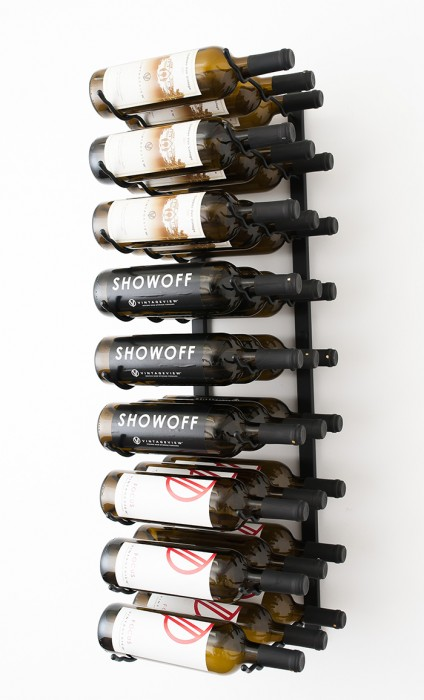 W Series 3 Wall Mounted Metal Wine Rack 9 To 27 Bottles