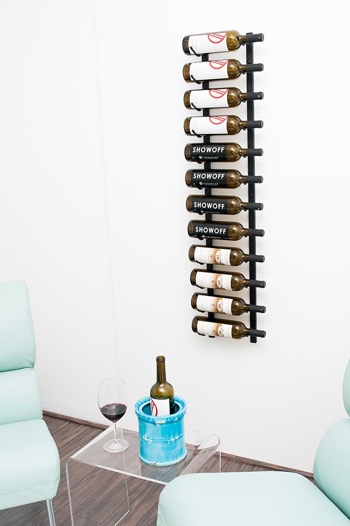 4 ft wall series metal wine rack (12 to 36 bottles) - vintageview 4 Ft Wall Shelf