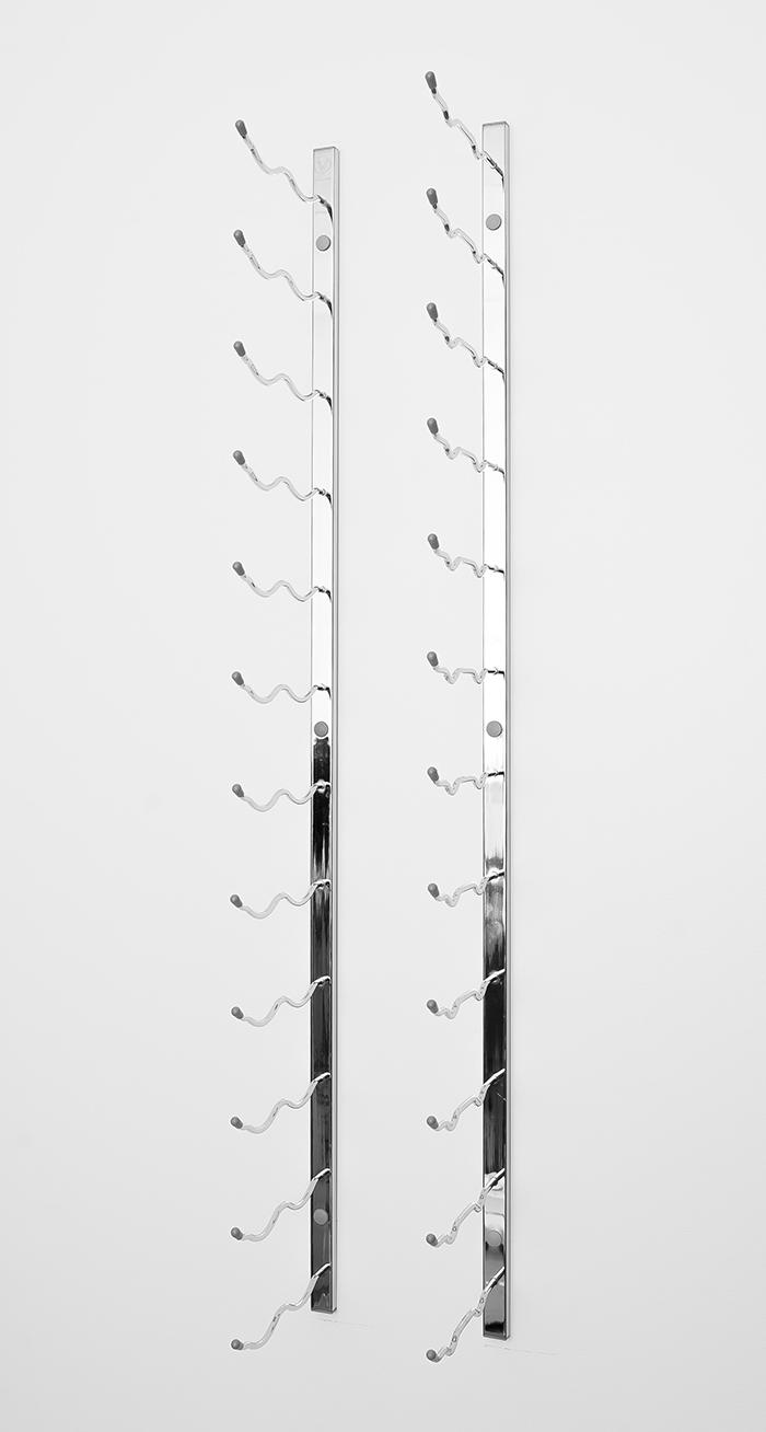 4 Ft Wall Series Metal Wine Rack 12 To 36 Bottles