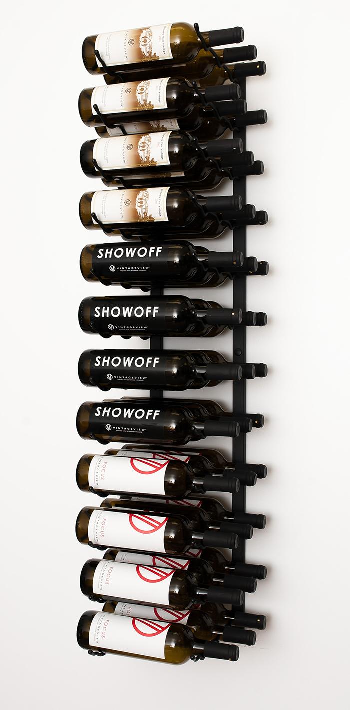 W Series 4 Wall Mounted Metal Wine Rack 12 To 36 Bottles