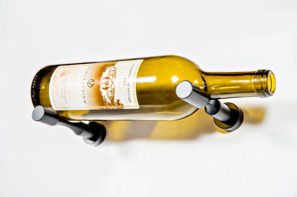 Vino Pins (drywall kit) 1-bottle wine rack in matte black