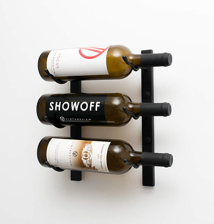 Wall Mounted Metal Wine Rack 1 ft wall series metal wine rack (3 to 9 bottles) - vintageview