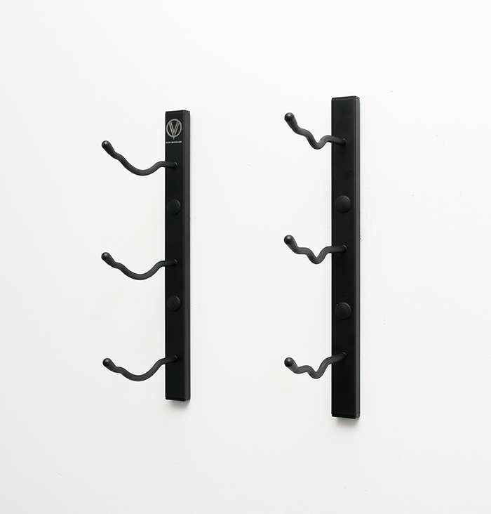 1 ft wall series metal wine rack in satin black finish