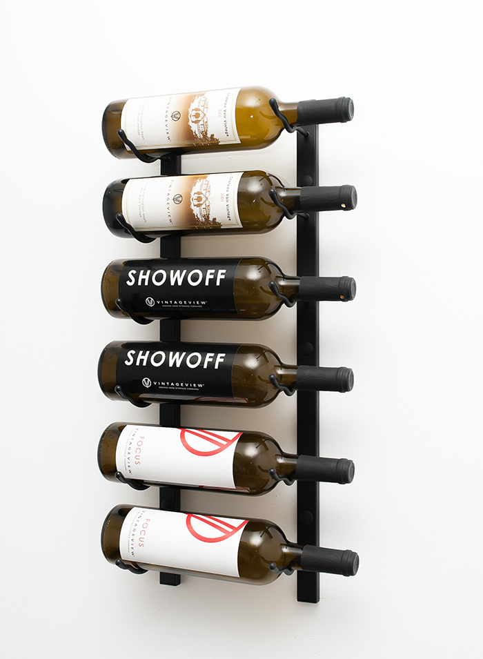 Ordinary Wall Wine Racks Part - 3: 2 Ft Wall Series Metal Wine Rack (single Deep, 6 Bottle) In Satin ...