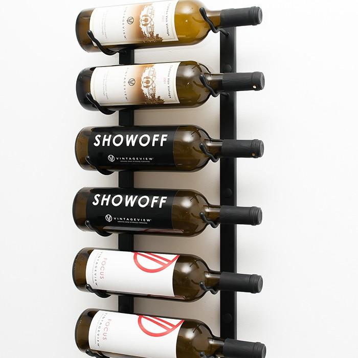 2 Ft Wall Series Metal Wine Rack 6 To 18 Bottles