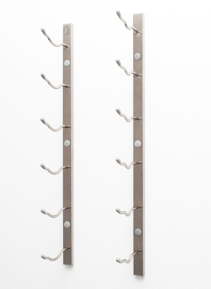 W Series 2 Wall Mounted Metal Wine Rack 6 To 18 Bottles