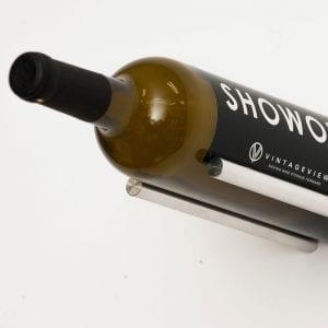 Vino Rails Cork Forward Metal Wine Rack in Silver