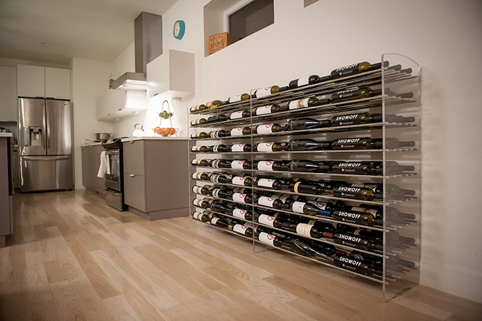 Evolution Metal and Acrylic Contemporary Wine Rack