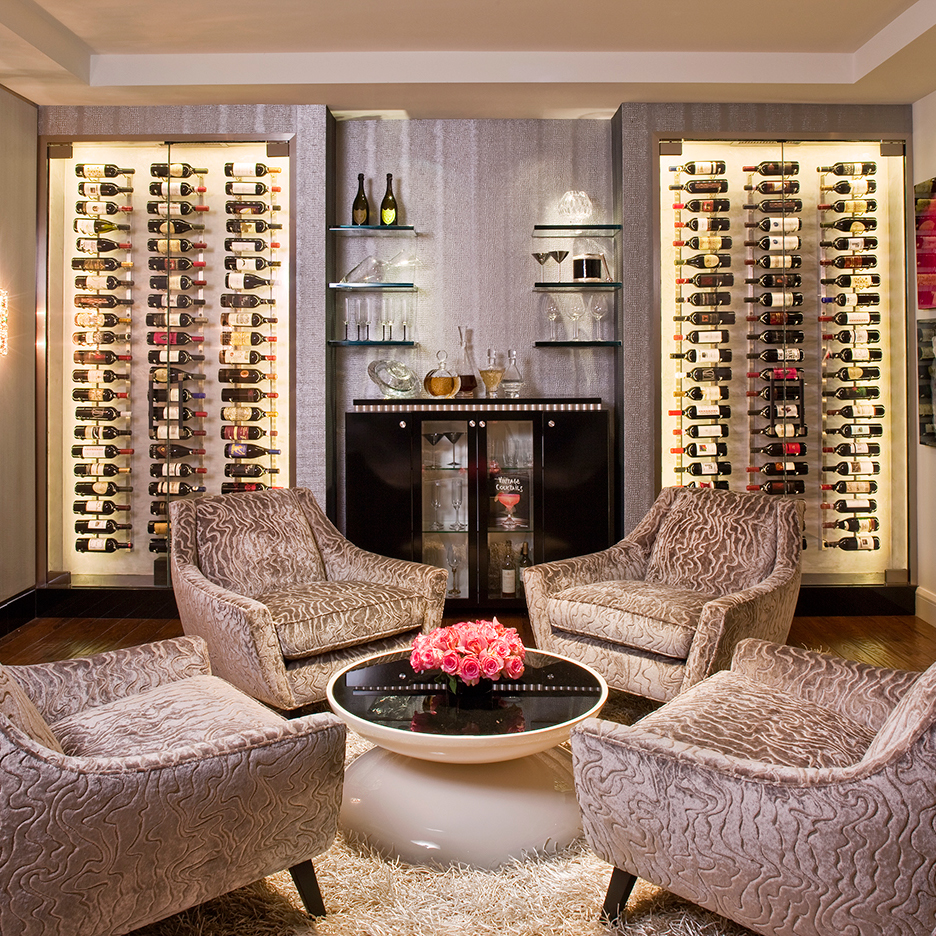 ... Denise Richards Wine Cellar Featuring 3 Ft Wall Series Metal Wine Racks  ... Part 58