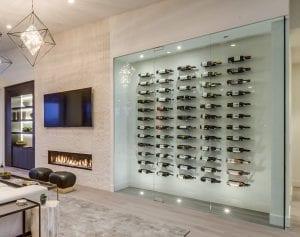 Vino Pins Modern Wine Cellar Example