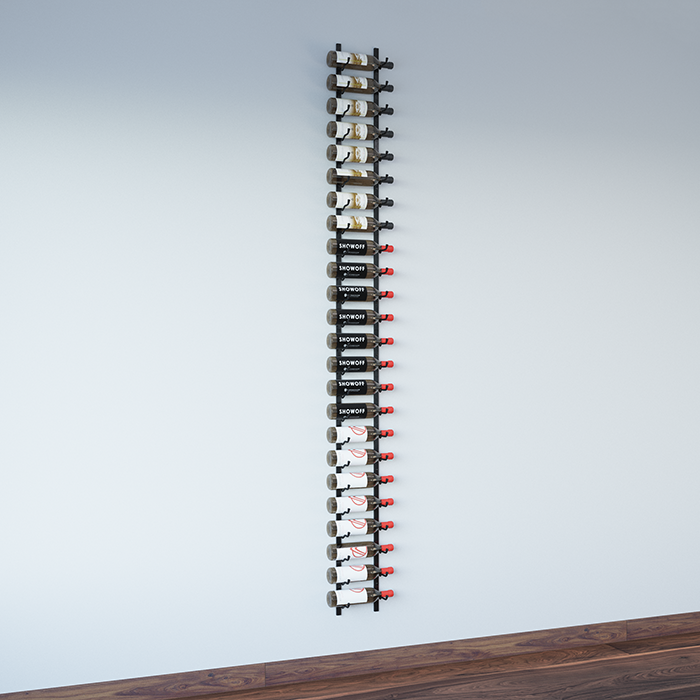 Wall Mounted Metal Wine Rack 8-foot wall series metal wine rack kit (24 to 72 bottles