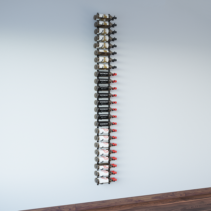 8 Foot Wall Series Metal Wine Rack Kit 24 To 72 Bottles