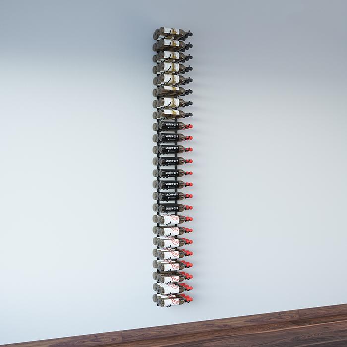 Metal Wall Wine Rack 8-foot wall series metal wine rack kit (24 to 72 bottles