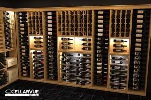 CellarVue Modular Metal and Wood Wine Racks