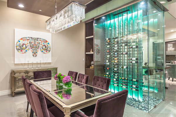 Chic Dining Room Wine Cellar