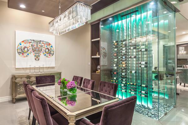 Chic Dining Room Wine Cellar