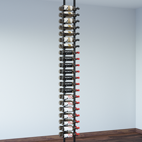 Floating Wall Wine Rack Kit Two Sided
