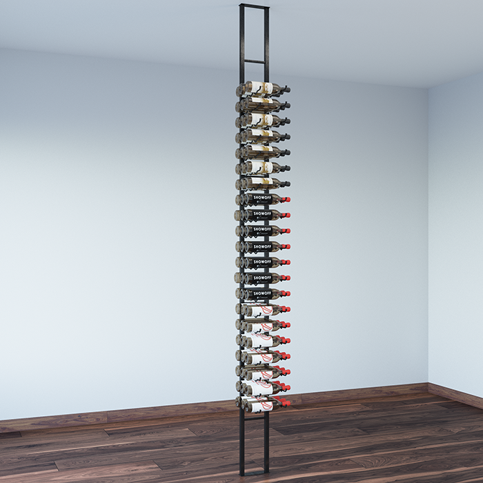 Wall Wine Racks Part - 42: ... Floating Wall Wine Rack (One Sided, Three Deep) ...