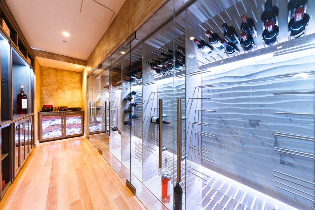 Caremelo Anthony's Vino Pins Wine Room designed by Joseph & Curtis