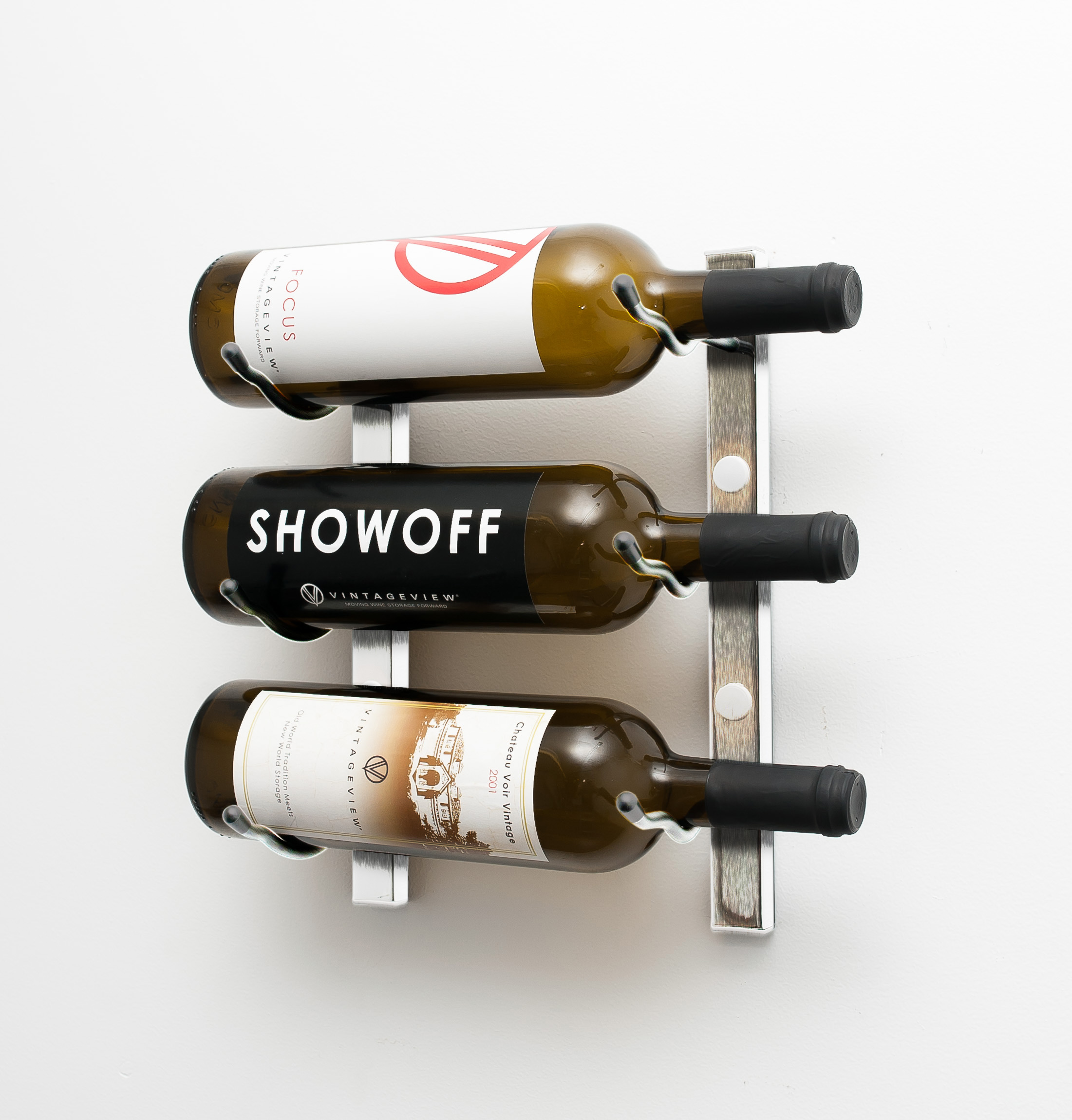 Wall Series 1 Mounted Wine Rack Metal 3 To 9 Bottles