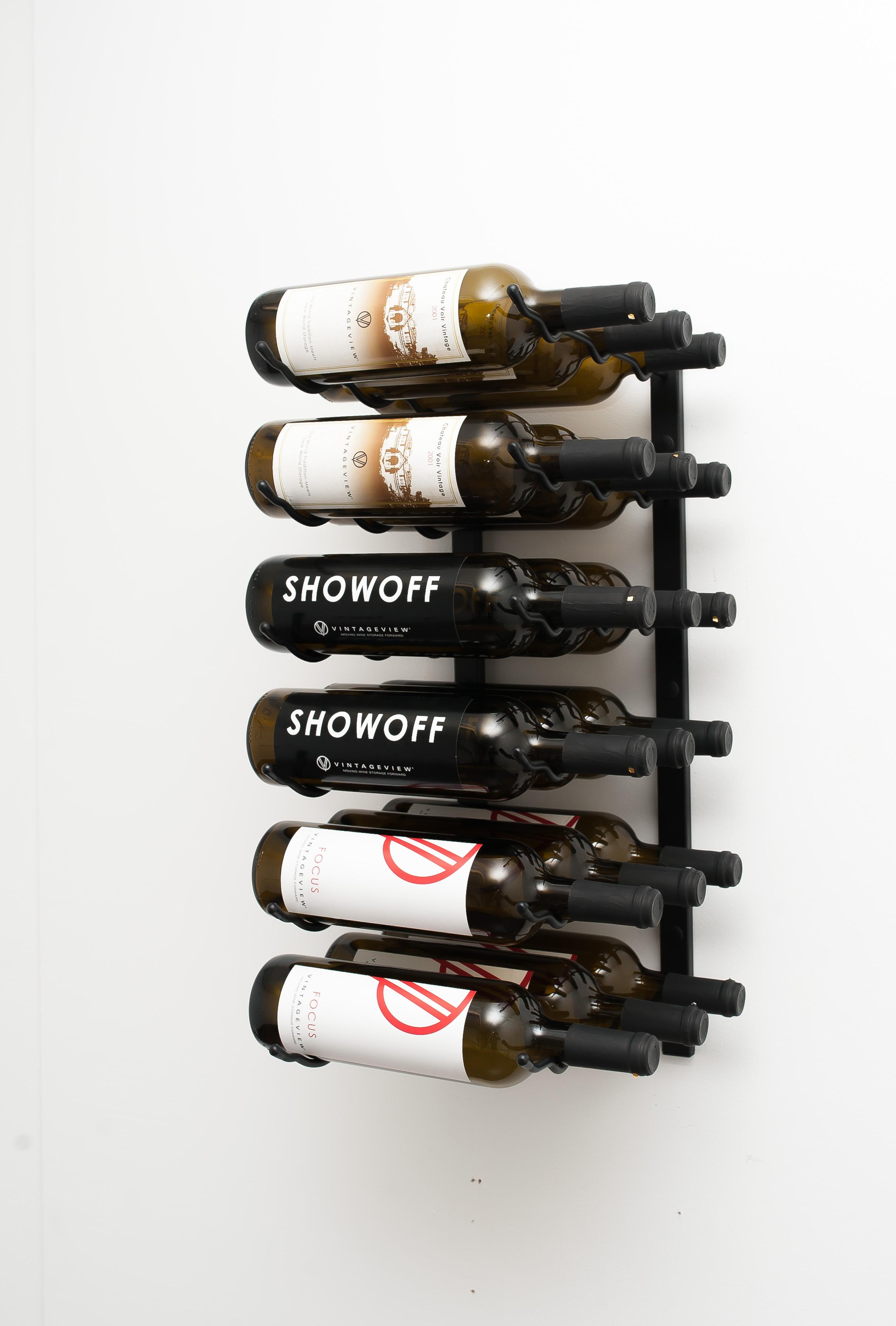 Wall Series 2 Metal Wine Rack 6 To 18 Bottles Vintageview