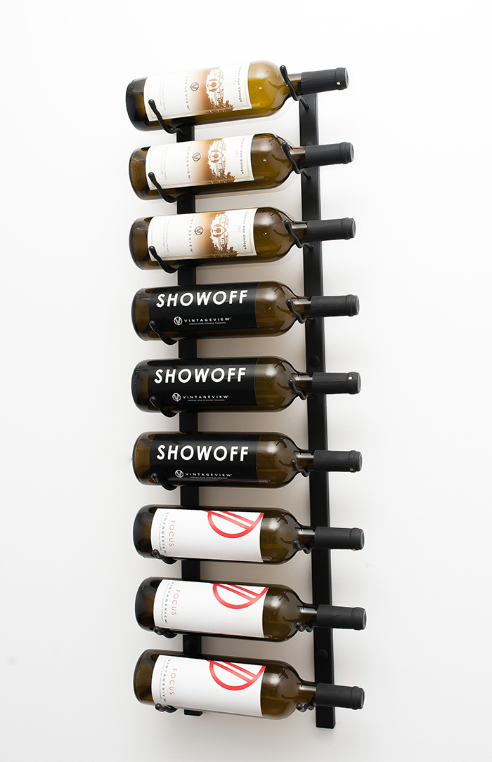 3 Ft Wall Series Metal Wine Rack 9 To 27 Bottles