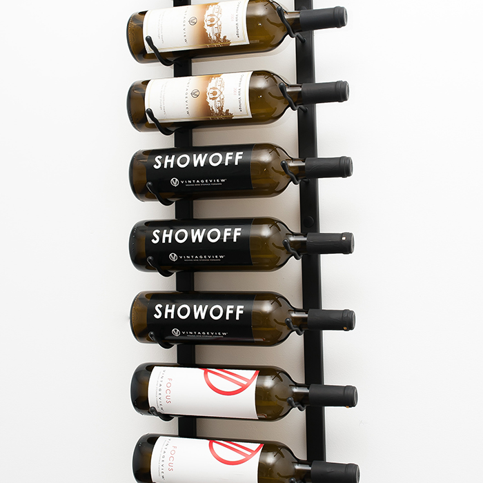 3 ft Wall Series Metal Wine Rack 9-Bottle