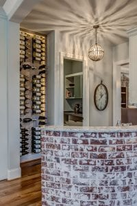 Modern Farmhouse Metal Wine Rack Display