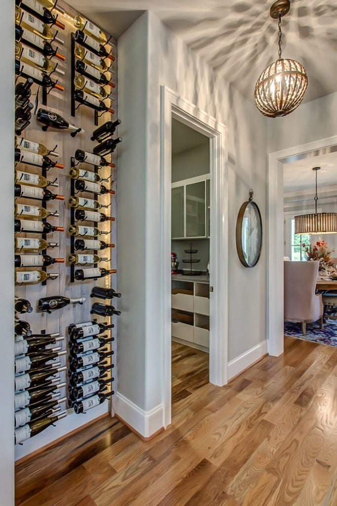 A stunning modern farmhouse and wine display in the heart for Cost to build wine cellar