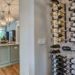 Modern Farmhouse Kitchen Wine Rack Display