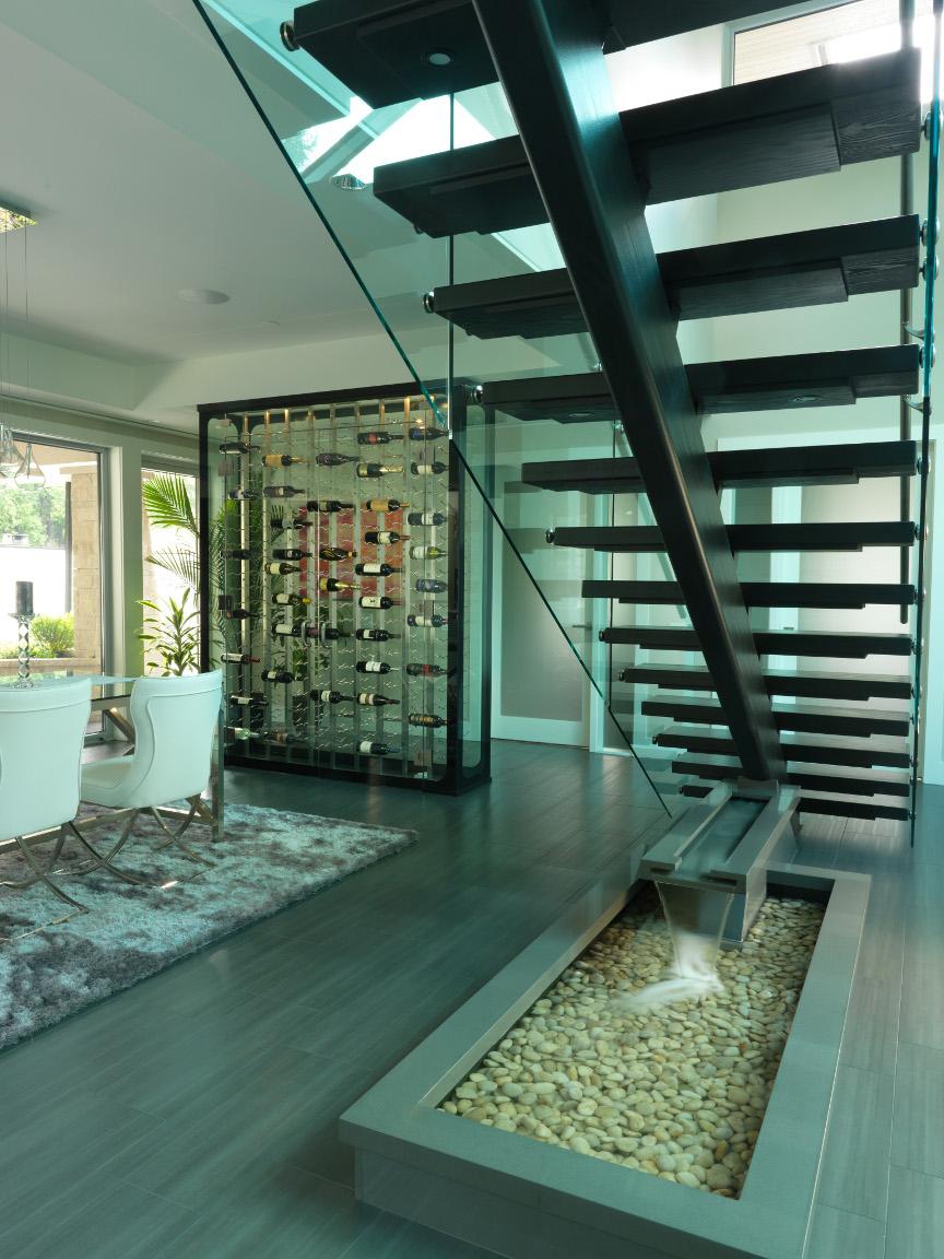 best modern residential wine cellar 2017 stave cellar by wine racks america vintageview. Black Bedroom Furniture Sets. Home Design Ideas
