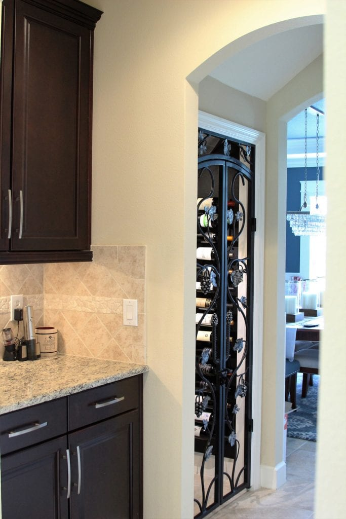 Turning a tiny closet space into a transitional wine Turn closet into wine cellar
