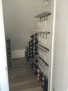 Diy Wine Closet Expanding Capacity Under The Stairs With