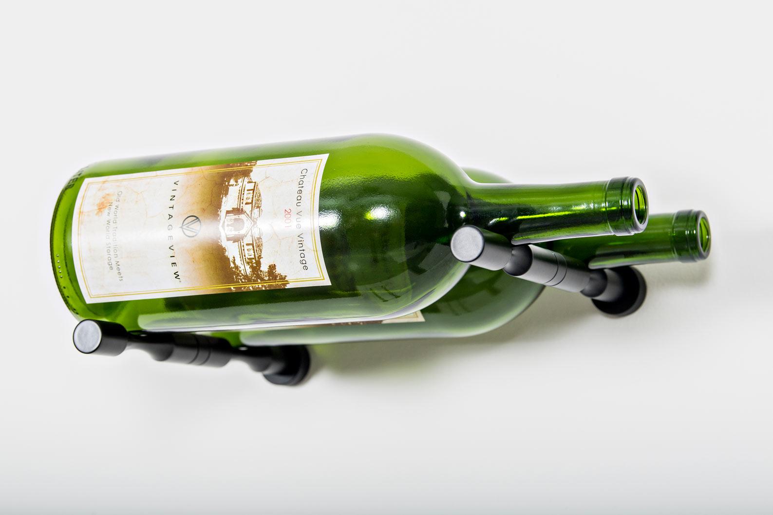 Vino Pins Magnum Or Champagne 2 Bottle Metal Wine Rack Kit Vintageview