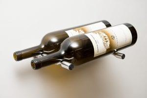 Vino Pins 2 Bottle Magnum Metal Wine Rack Kit in Milled Aluminum