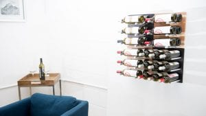 Checker Board Grain & Rod Metal and Wood Wine Rack Panel Kit