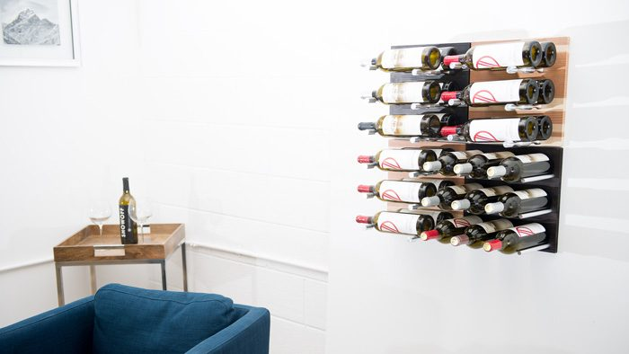 Metal Wood Wall Mounted Wine Racks