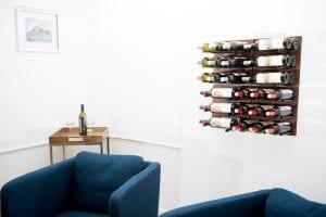 Traditional Warmth Grain & Rod Metal and Wood Wine Rack Panel Kit