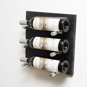 grain u0026 rod metal and wood 3 bottle wine rack board