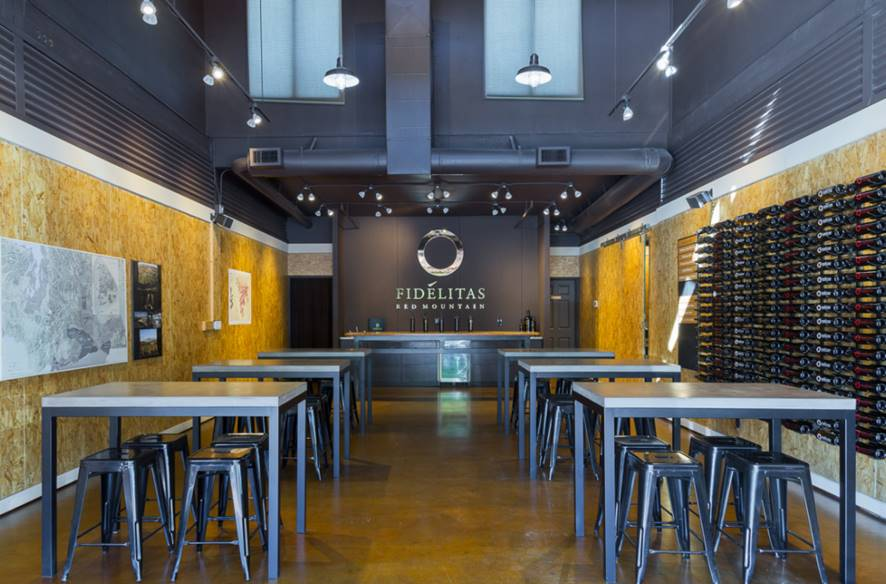 Winery Tasting Room Design of the Month March Fidlitas Wines