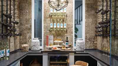 The Southern Living Showhome In Houston Is A Family Paradise With A  Transitional Wine Cellar   VintageView